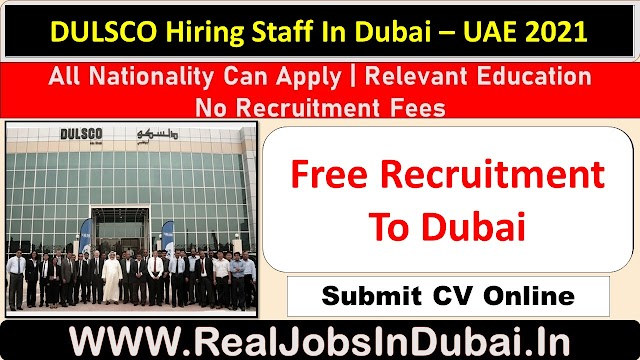 DULSCO Careers Jobs Vacancies In Dubai  UAE 2021