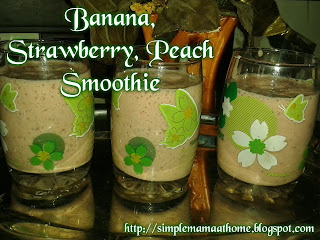Banana, Strawberry, Peach Smoothie