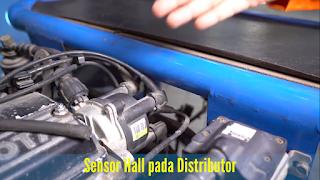 Sensor Hall pada Distributor