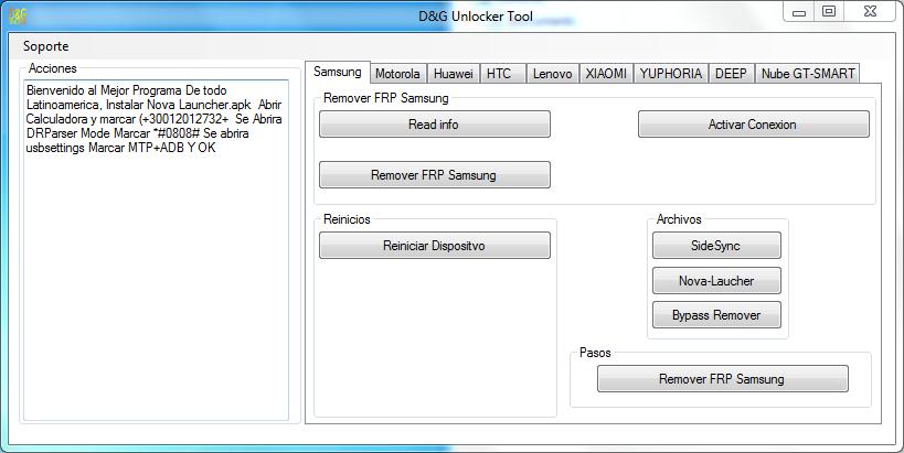 D&G Unlocker Tool - Free FRP/Google Account Bypass Tool 2020
