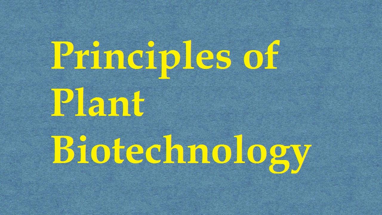 Principles Of Plant Biotechnology ICAR E course Free PDF Book Download e krishi shiksha