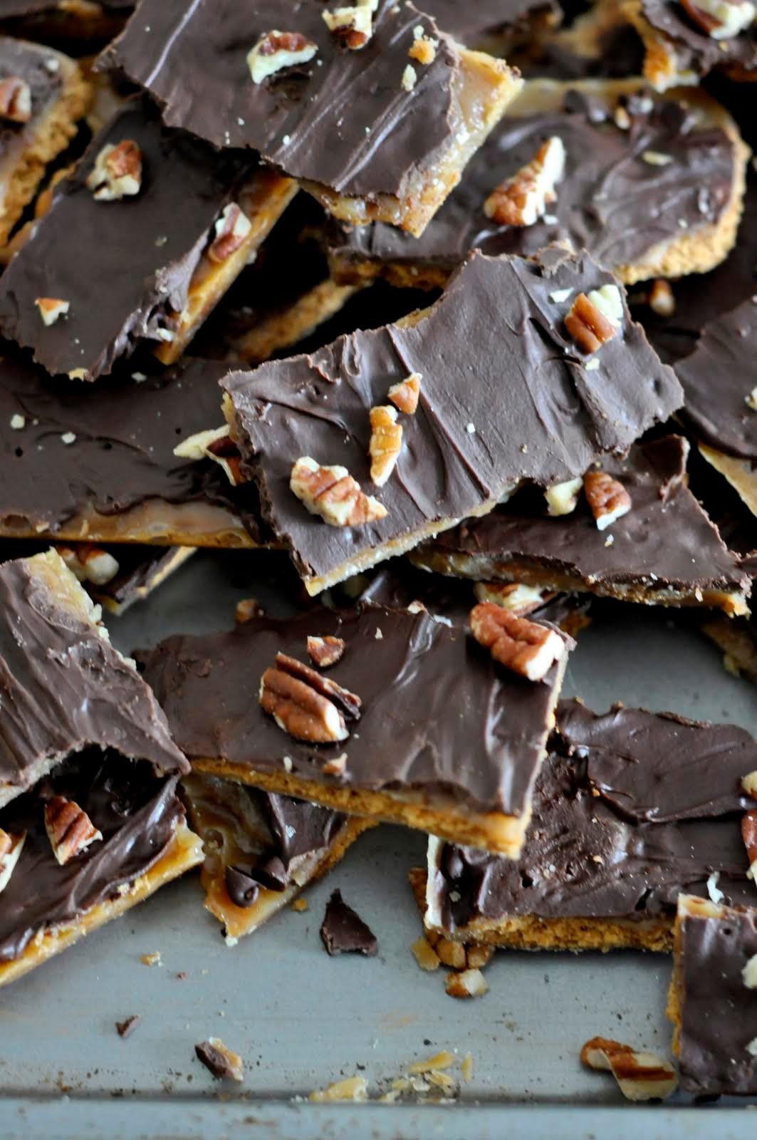 Graham Cracker Toffee | Taste As You Go