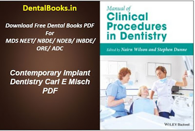 Manual of Clinical Procedures in Dentistry PDF