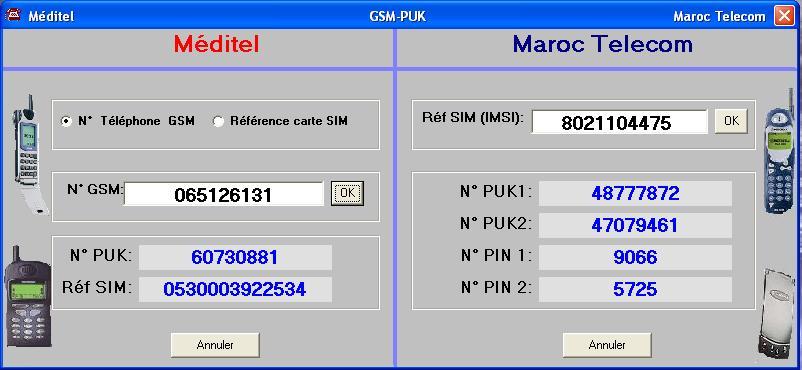 logiciels code puk maroc telecom et meditel