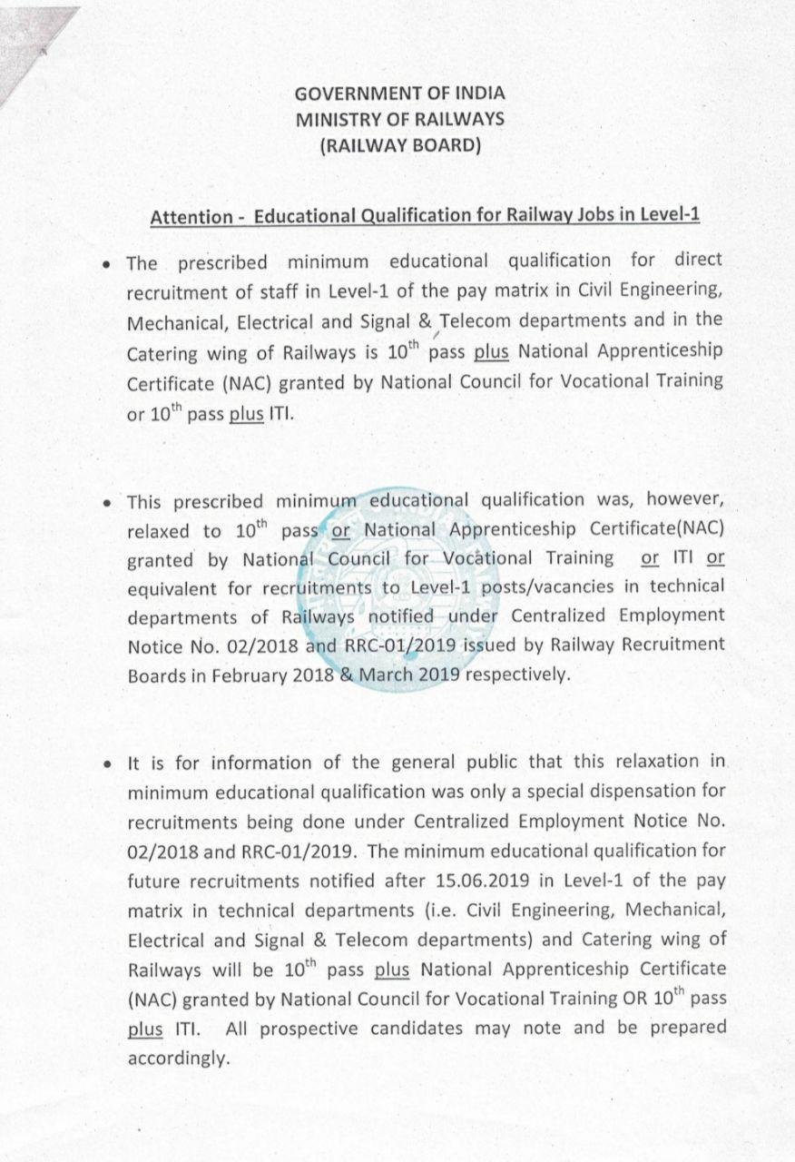 railway group d qualification