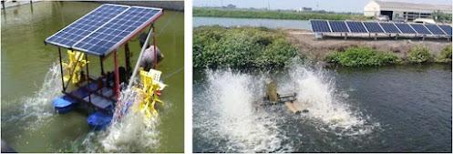 Penggunaan solar panel pada kolam tambak