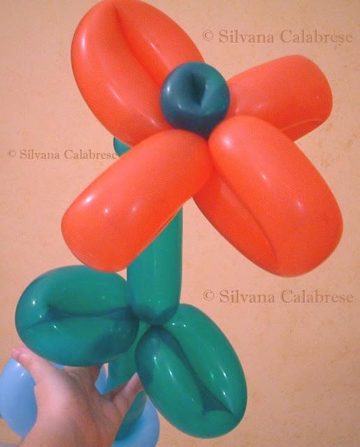 fiore scultura palloncini Silvana Calabrese Blog