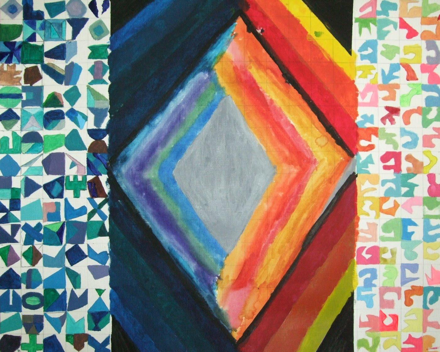 Highschoolart Geometric And Organic Shapes High School Art