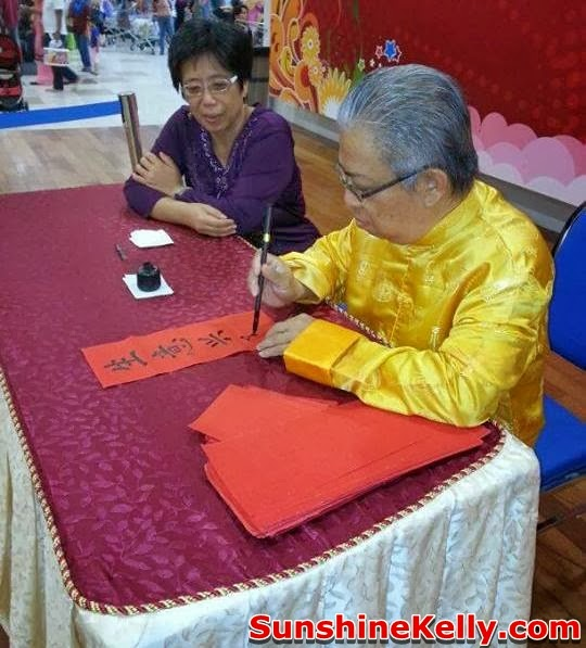 Chinese New Year Carnival @ Mydin Mall USJ, Chinese New Year Carnival, Mydin Mall, USJ, chinese calligraphy by master kwan