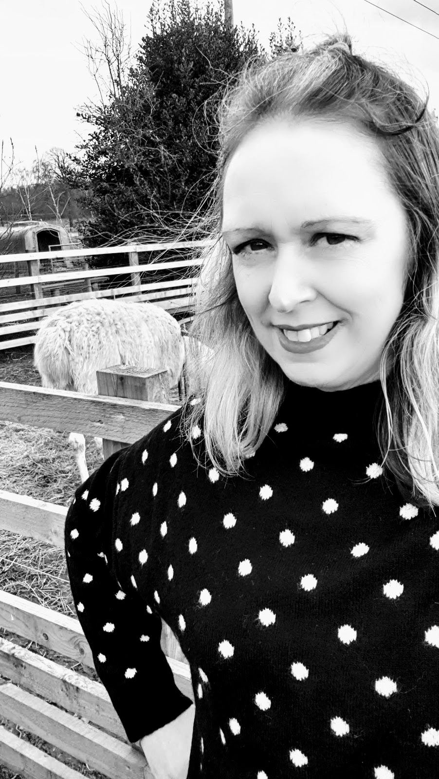 Black And White Polka Dot's: What I Wore Wednesday Link Up