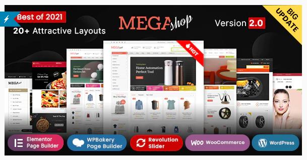 Mega Shop | 15+ Best Multipurpose WooCommerce WordPress Themes