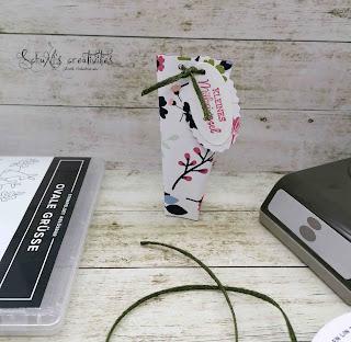 Produktpaket Ovale Grüße; geflochtenes Leinenband in Waldmoos; Stempelkissen Rokoko-Rosa