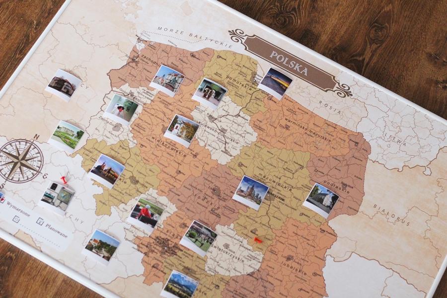 mapa podróży polska