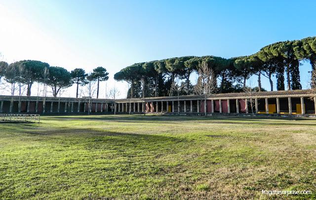"""Ginásio de Esportes ou """"palaestra"""" de Pompeia"""