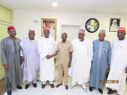 Oshiomhole, APC Governors Meet Kwankwaso; Urge Him Not To Dump Party (Photo)