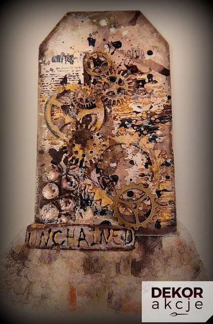 mixed media steampunk tag scrapbooking