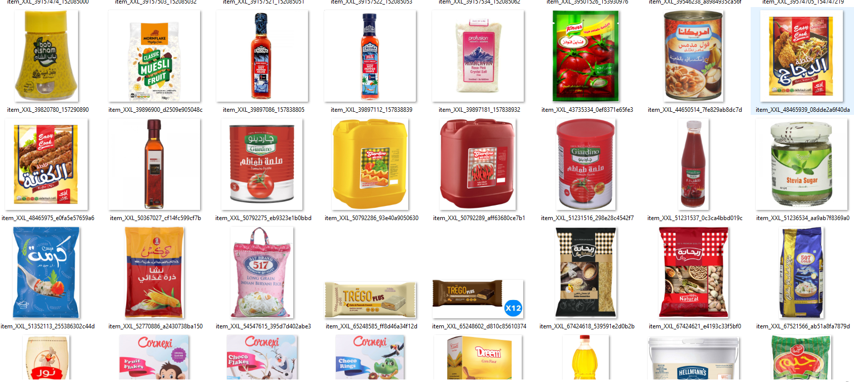 Mid-quality grocery store and supermarket image set