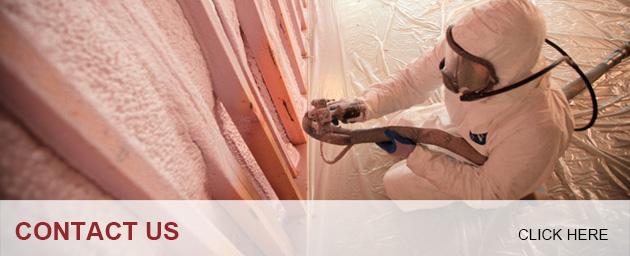 Insulation Installer applying Spray Foam Insulation; Contact Foam Insealators of Maryland and Virginia