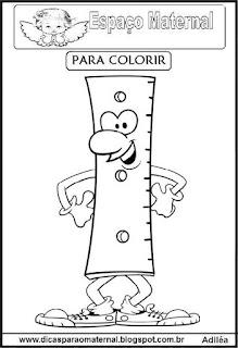 Desenho de régua para colorir