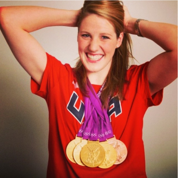 missy franklin with her 5 olympic medals