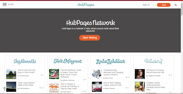 write on hubpages