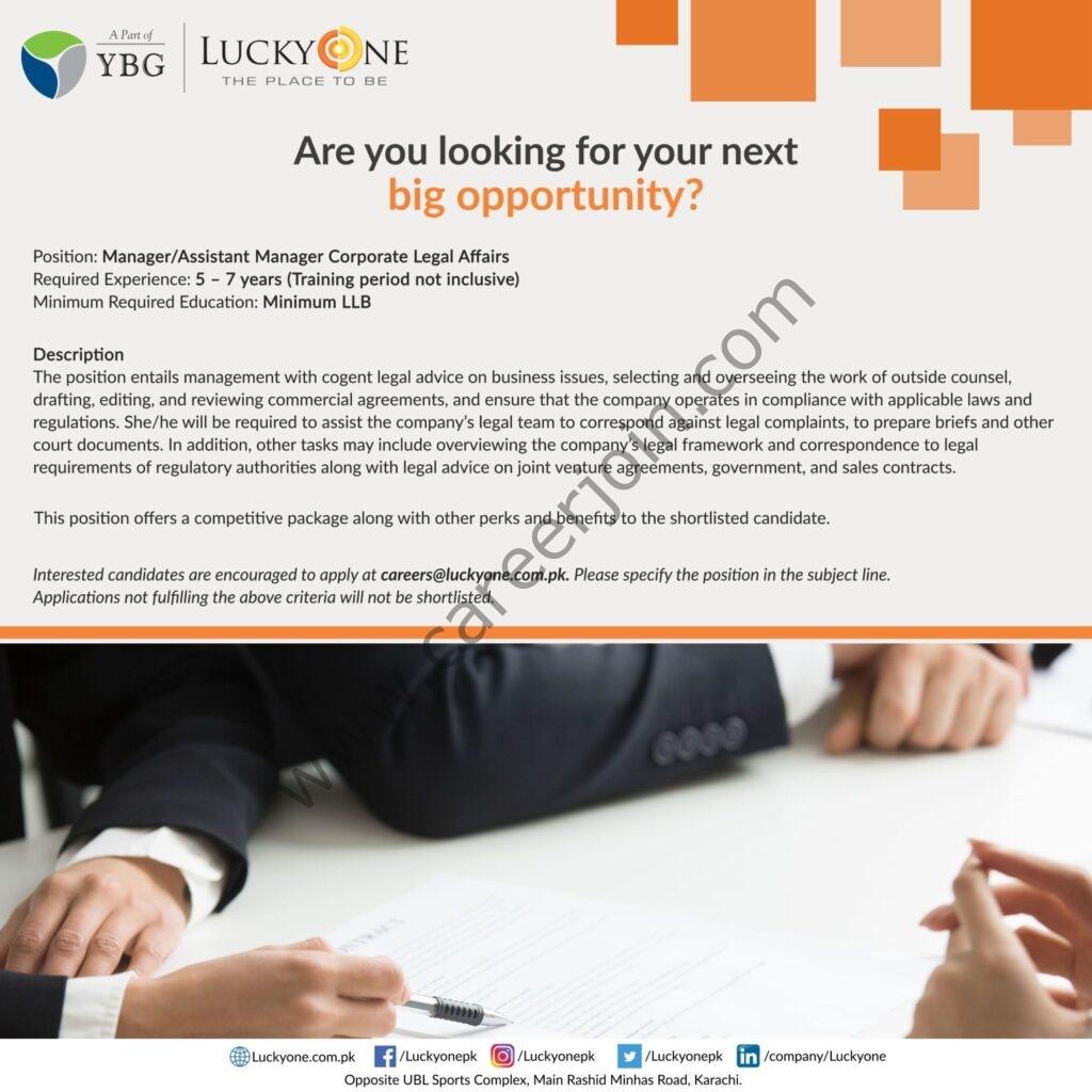 LuckyOne Mall Jobs 2021 in Pakistan