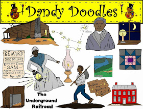 http://www.teacherspayteachers.com/Product/Underground-Railroad-Clip-Art-by-Dandy-Doodles-1547305