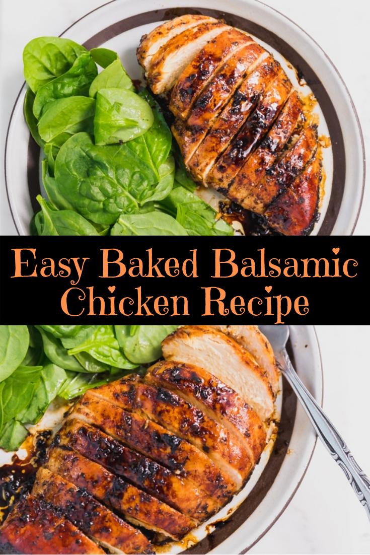 Easy Baked Balsamic Chicken Recipe