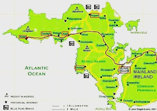 Image result for Dooagh, north-west Ireland map