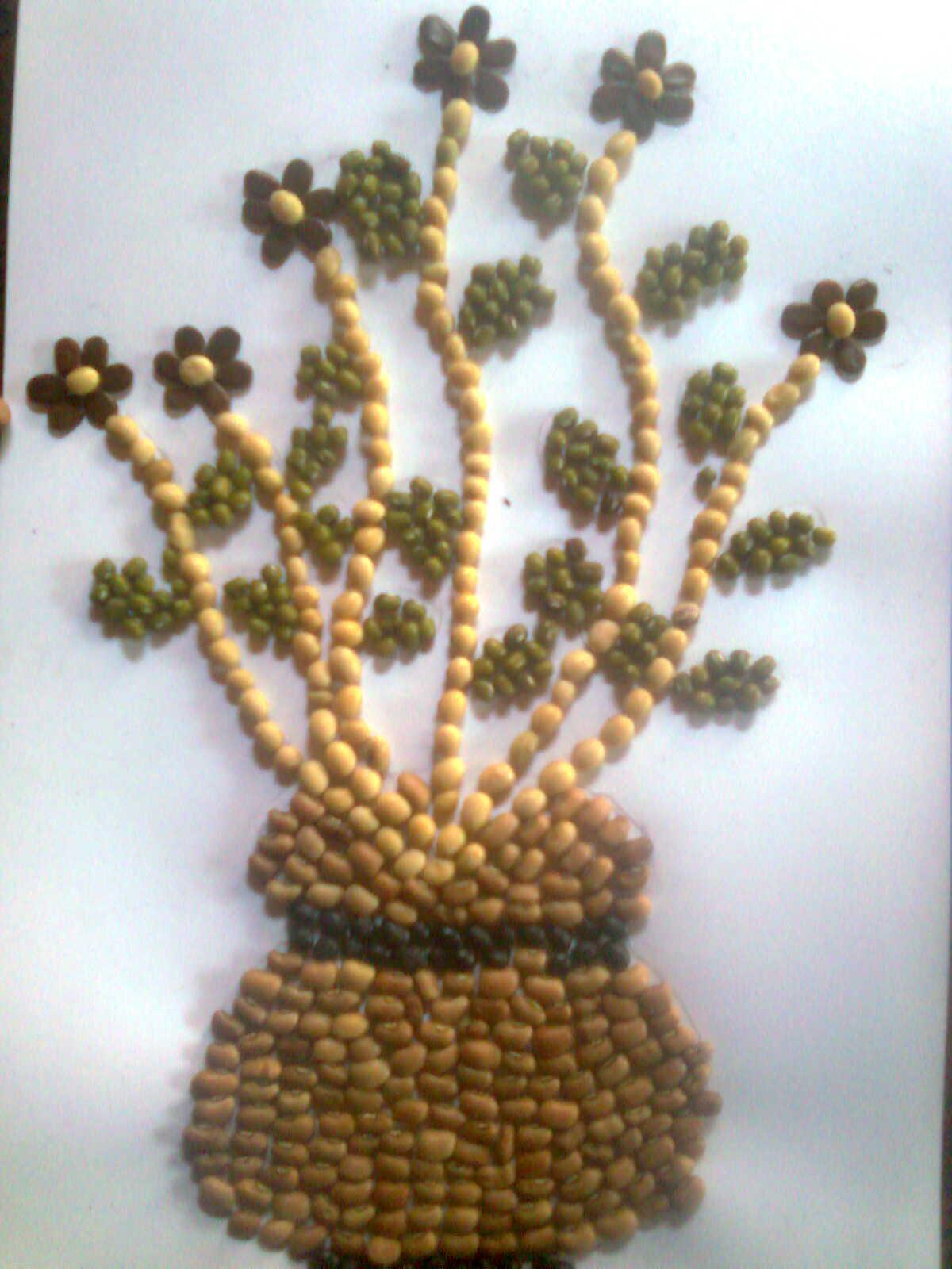 Membuat Mozaik atau Kolase Unik dari Bahan Biji-bijian ...