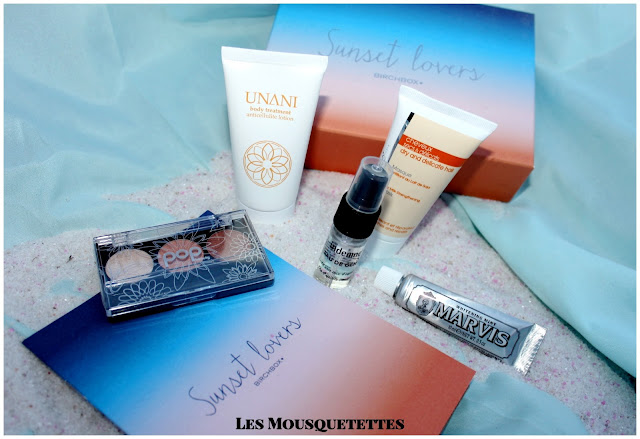 Birchbox juillet 2015 Sunset Lovers - Les Mousquetettes©