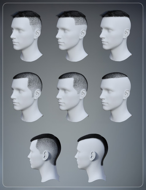 Simple Short Haircut for Genesis 3 Male