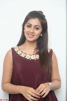 Nikki Galrani in a Brown Shining Sleeveless Gown at Nakshatram music launch ~  Exclusive 059.JPG