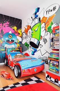 Dormitorio tema comics