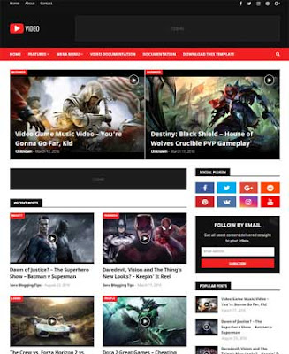 Video Responsive Blogger Template dgntemplate