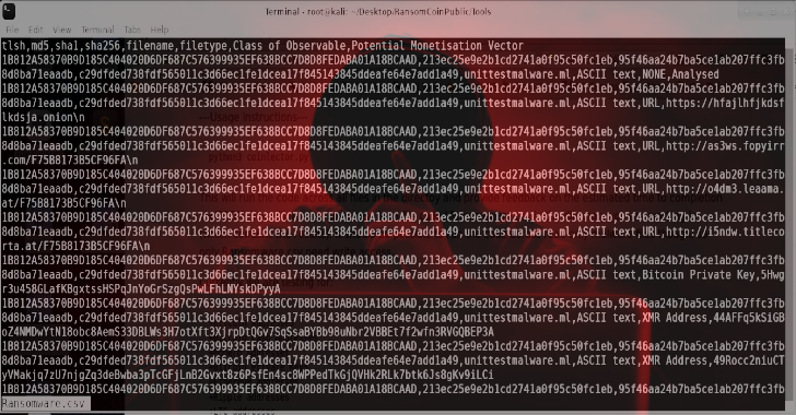 RansomCoinPublic : A DFIR Tool To Extract Cryptocoin Addresses