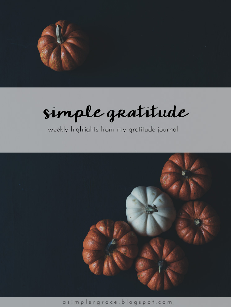 A weekly series focusing on practicing gratitude.  #gratefulheart #gratitude #feelingthankful - Simple Gratitude | 50 - A Simpler Grace