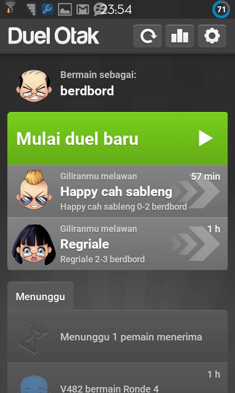 Duel Otak Premium Full With Avatar Dan Warna Background Berdbord