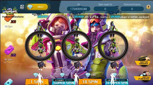 Event Terbaru Free Fire Jackpot 39.999 Diamond Spesial Tahun Baru