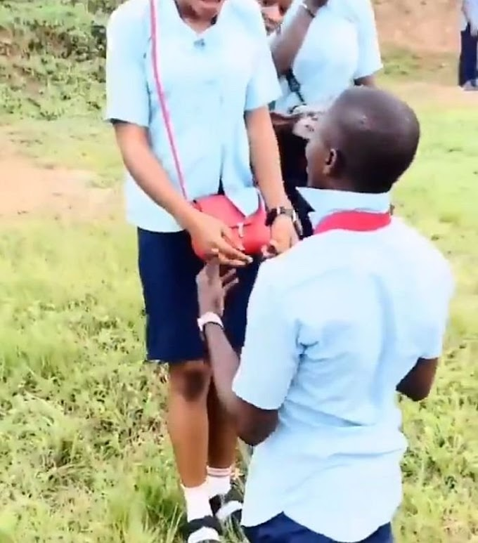 MAD OO!! SS3 Student Proposed To His Girlfriend After WAEC Examination (Watch Video)