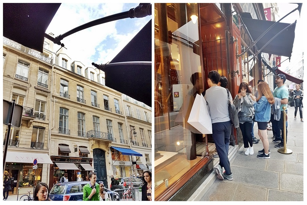 Shopping in La Fayette, Goyard & Champs Elysees