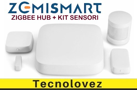 Zemismart Zigbee Hub + Kit Sensori Porta | Sensore Movimento PIR e Rilevatore di Temperatura e Umidità