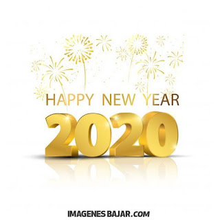 happy new year 2020 tarjeta en blanco y dorado