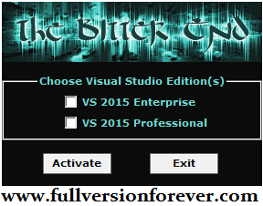 download MS Visual Studio 2015 Professional Activator
