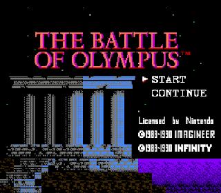 The Battle of Olympus - Pantalla título RPG