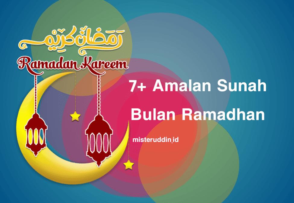 amalan sunah bulan ramadhan