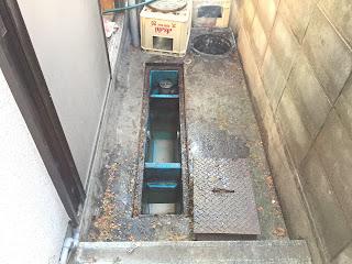 除害施設清掃、泥水除去状況