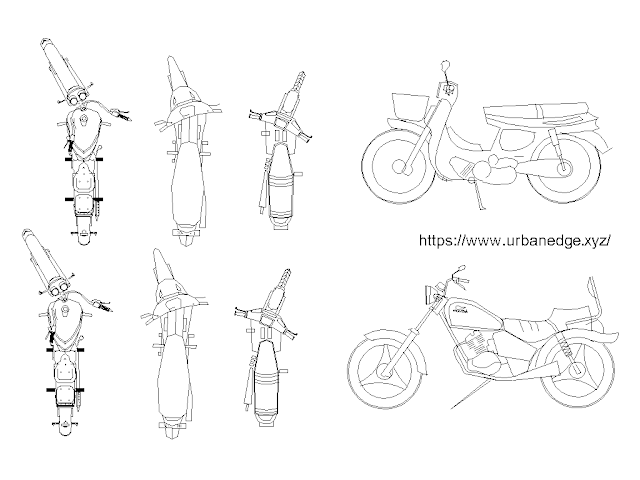 Motorcycles and Motorbike cad block free download - 8+ free cad blocks