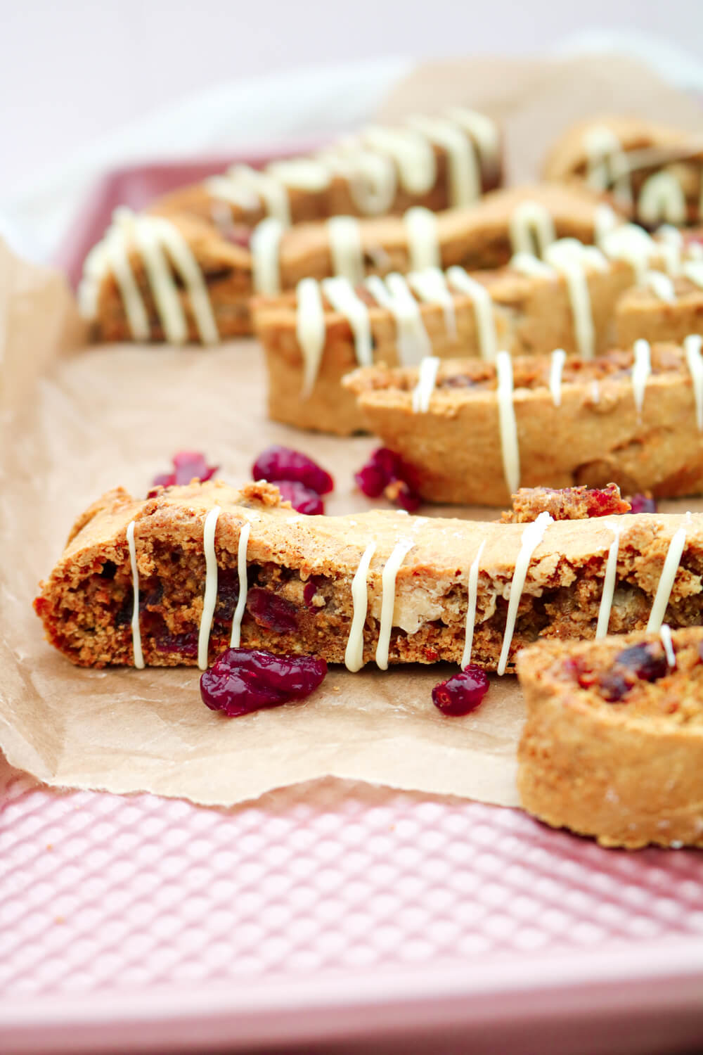White Chocolate & Cranberry Biscotti | Take Some Whisks