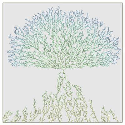 Generative art example image with DLA similar method.